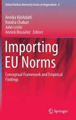 Book cover: Importing EU Norms - Conceptual Framework and Empirical Findings