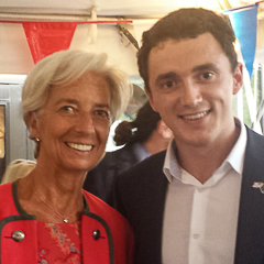 Euromasters student with Christine Lagarde
